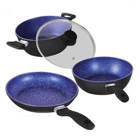 Σετ 3 Αντικολλητικών Μαγειρικών Σκευών - Greystone Migas (Κουζίνα )