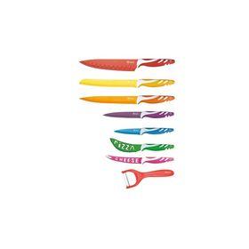 Royalty Line Σετ με 7 μαχαιρια από ανοξείδωτο ατσάλι και 1 εργαλείο για ξεφλούδισμα( RL-COL7)+ ΔΩΡΟ Μαγική Σίτα Πόρτας Λευκή/Μαύρη NEW VERSION (Κουζίνα )
