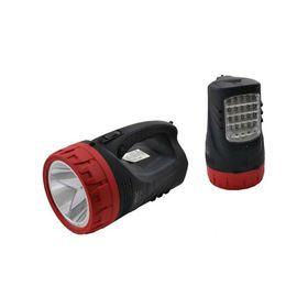 Επαναφορτιζόμενος Φακός Διπλής Λειτουργίας με 25 LED και Προβολέα 5W (Φωτισμός)