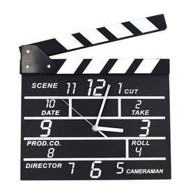 Ξύλινο Ρολόι Τοίχου σε Σχέδιο Κλακέτα Σκηνοθέτη (Ρολόγια)