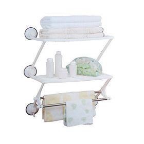 Ραφιέρα με 2 Ράφια και Θέση για Πετσέτες (Μπάνιο)