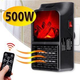 Μίνι Τζάκι Αερόθερμο με Εφέ Φλόγας 500Watt (Ψύξη - Θέρμανση)