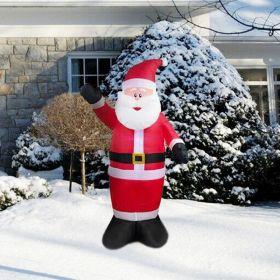 Φουσκωτός Άγιος Βασίλης 180cm με Φωτισμό LED (Εποχιακά)