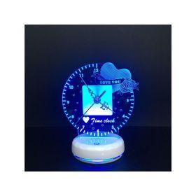 3D Φωτιστικό-Ρολόι Με 7 Χρώματα (Διακόσμηση σπιτιού)