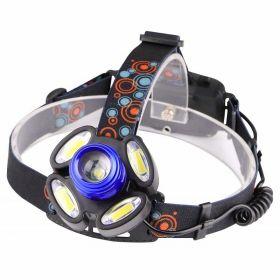 Αδιάβροχος Φακός Κεφαλής / HeadLight Rotary Zoom T6 x 1 + LED x 4 (Φωτισμός)