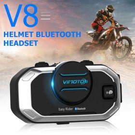 Ενδοεπικοινωνία Bluetooth Κράνους Μηχανής VIMOTO V8 850mAh (Αυτοκίνητο - Μηχανή - Σκάφος)