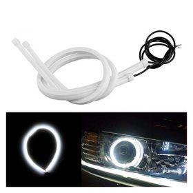 Εύκαμπτος  Σωλήνας για Φανάρι με Φλας-Φώτα Ημέρας Αυτοκινήτου-6000Κ Ψυχρό Λευκό 50 cm-Σετ 2 τμχ (Αξεσουάρ αυτοκινήτου)
