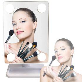 Περιστρεφόμενος Καθρέπτης Μακιγιάζ με Φωτισμό 4 x LED (Ομορφιά)