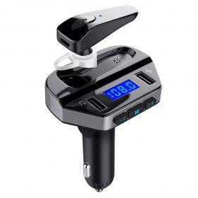 Πομπός Bluetooth USB MP3 Player, FM Transmitter, και Φορτιστής Αυτοκινήτου με Ακουστικό Hands-free (Αξεσουάρ αυτοκινήτου)