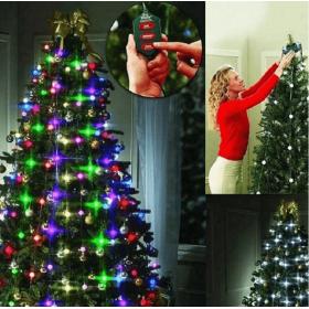 Χριστουγεννιάτικα Νυχτερινά Λαμπάκια 48 Led RGB με Κοντρόλ OEM 72811A1 (Εποχιακά)