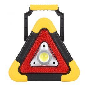 Επαναφορτιζόμενο Τρίγωνο Ασφαλείας & Φακός LED με Ηλιακό Πάνελ HB-6609 (Αξεσουάρ αυτοκινήτου)
