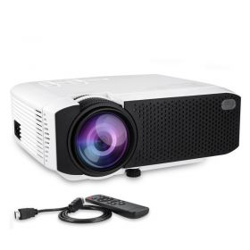 Φορητός Προτζέκτορας Προβολής LED Home Theater HD με HDMI, VGA, USB, SD CARD (Ήχος & Εικόνα)
