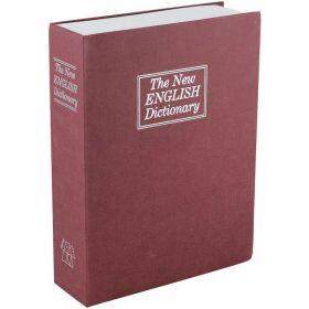 Βιβλίο Χρηματοκιβώτιο Ασφαλείας με Κλειδί Χρώμα Κόκκινο - Book Safe Dictionary 265 x 200 x 65mm (Ασφάλεια & Παρακολούθηση)