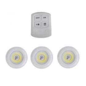 Σετ Τηλεχειριζόμενα Φωτάκια LED Νυκτός - Τεμάχια 3 (Φωτισμός)