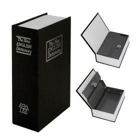 Βιβλίο Χρηματοκιβώτιο Ασφαλείας με Κλειδί Χρώμα Μαύρο - Book Safe Dictionary 265 x 200 x 65mm (Ασφάλεια & Παρακολούθηση)