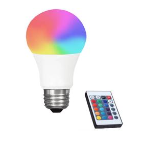 RGB Led Λάμπα E27 3Watt με Τηλεχειριστήριο Dimmer και Εναλλαγή Χρωμάτων (Φωτισμός)