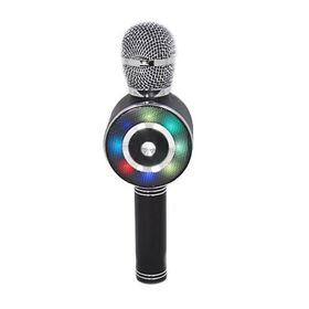 Ασύρματο Bluetooth Μικρόφωνο με Ενσωματωμένο Ηχείο, Καραόκε & Disco Light Led (Ήχος & Εικόνα)