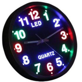 Εντυπωσιακό Ρολόι Τοίχου με πολύχρωμο φωτισμό LED (Ρολόγια)