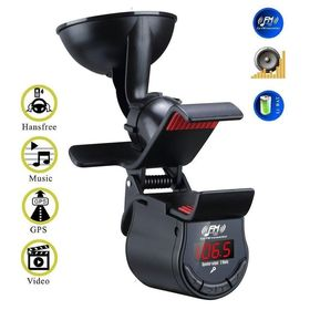 Βάση Αυτοκινήτου με Ασύρματο Πομπό FM Stereo, Bluetooth Hands-Free και Ενσωματωμένο Ηχείο (Αξεσουάρ αυτοκινήτου)