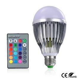 RGB Led λάμπα E27 10 Watt με τηλεχειριστήριο και εναλλαγή 16 χρωμάτων (Φωτισμός)