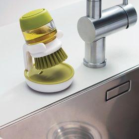 Βουρτσάκι Πιάτων με Θήκη Σαπουνιού στη Λαβή (Προϊόντα καθαρισμού)
