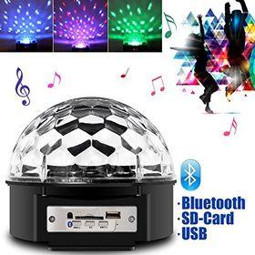 Τηλεχειριζόμενο Φωτορυθμικό Bluetooth LED Effect DJ Crystal Ball με USB Mp3 Player (Ήχος & Εικόνα)