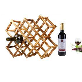 Ξύλινη Κάβα Κρασιών - Folded Wine Shelf (Κουζίνα )