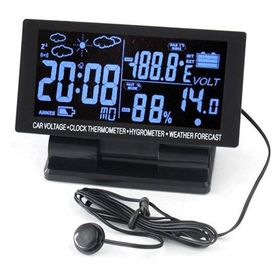 Ρολόι Αυτοκινήτου με Οθόνη LCD και Ψηφιακό Θερμόμετρο και Υγρόμετρο (Αξεσουάρ αυτοκινήτου)
