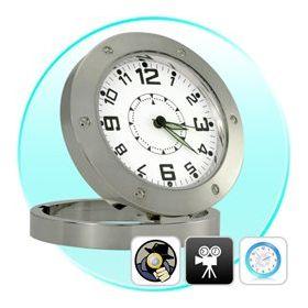 Ρολόι Κρυφή Κάμερα  Επιτραπέζιο με Ανίχνευση Ήχου - Spy Clock Cam (Ασφάλεια & Παρακολούθηση)