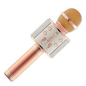 Ασύρματο Bluetooth  Μικρόφωνο με Ενσωματωμένο Ηχείο και Karaoke WS-858 (Ήχος & Εικόνα)