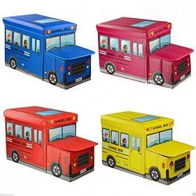 Παιδικό Κάθισμα και Κουτί Αποθήκευσης Παιχνιδιών Λεωφορείο (Οργάνωση σπιτιού)
