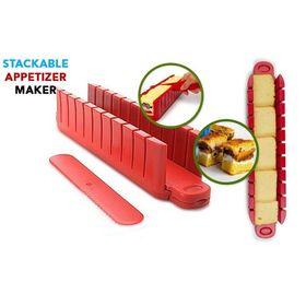 Φόρμα Παρασκευής και Κοπής για Σνακ - 5 Min Stackable Appetizer Maker (Κουζίνα )