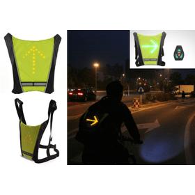 Επαναφορτιζόμενο Γιλέκο Πλάτης Ασφαλείας Ποδηλάτου με Φωτεινή Σήμανση Led και Τηλεχειριστήριο (Hobbies & Sports)