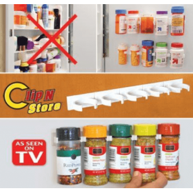 Οργανωτής Μπαχαρικών με Αυτοκόλλητη Ταινία- Clip n Store (Κουζίνα )