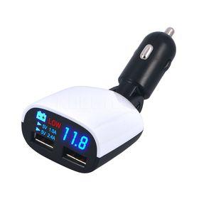Ταχυφορτιστής USB Αυτοκινήτου με Οθόνη LED Πολλαπλών Ενδείξεων (Κινητά & Αξεσουάρ)