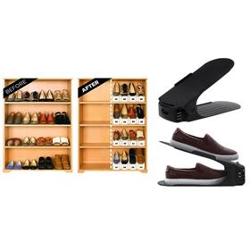 Θήκη Οργάνωσης Παπουτσιών με Ρύθμιση Ύψους - Σετ 4 Τεμαχίων (Οργάνωση σπιτιού)