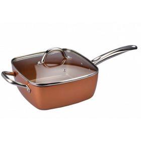 Αντικολλητική Κατσαρόλα - Φριτέζα με Καπάκι και Σχάρα Ατμού (Κουζίνα )