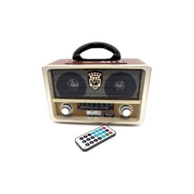 Retro Φορητό Επαναφορτιζόμενο Ραδιόφωνο USB SD Mp3 Player Recorder (Ήχος & Εικόνα)