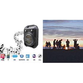 Ανθεκτικό Μίνι Ηχοσύστημα Bluetooth Ηχείο 9W με FM Radio και Φωτισμό LED – BS12 (Αξεσουάρ αυτοκινήτου)