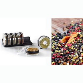 Κυλινδρικό Σετ Αποθήκευσης Μπαχαρικών 6 Τεμαχίων – Cylindra Spice Rack (Κουζίνα )