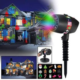 Εντυπωσιακός Νυχτερινός Διακοσμητικός Φωτισμός LED με 12 Slides (Εποχιακά)