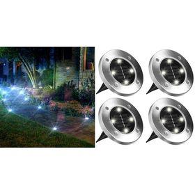Ηλιακό Φωτιστικό Κήπου Σετ 4 Τεμαχίων - Disk Lights (Φωτισμός)