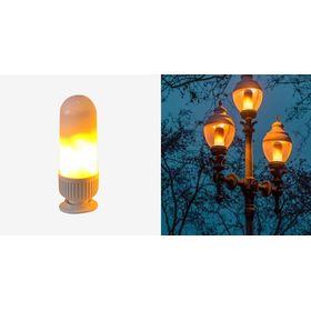 Λάμπα LED με Εντυπωσιακό Φωτισμό Φλόγα 6w (Φωτισμός)