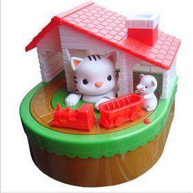 Παιδικός Κουμπαράς Γάτα και Ποντικάκι με Κίνηση και Ήχο (Παιδί)