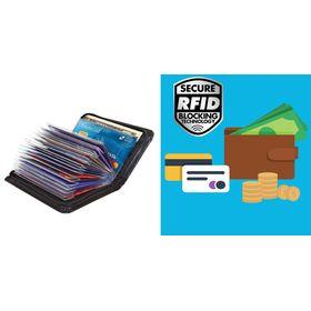 Πορτοφόλι Ασφαλείας 36 Καρτών με Προστασία RFID (Μόδα)