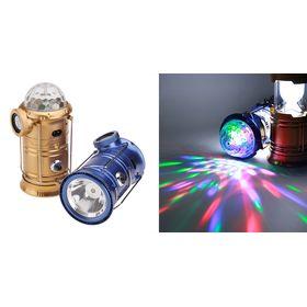 Πτυσσόμενο Επαναφορτιζόμενο Φανάρι με Ηχείο Bluetooth, Εντυπωσιακό Φωτισμό Disco και Power bank (Φωτισμός)