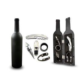 Σετ Αξεσουάρ Σερβιρίσματος Κρασιού σε Εντυπωσιακή Θήκη Μπουκάλι (Κουζίνα )