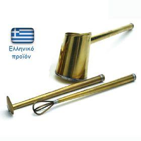 Μπρούτζινο Σετ Ελληνικού Καφέ 3 Τεμαχίων (Κουζίνα )