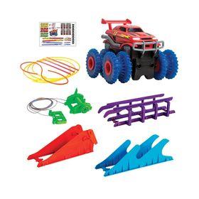 Αυτοκινητόδρομος με Αυτοκινητάκι Monster Truck Σετ 6 Τεμαχίων-Trix Trux (Παιδί)