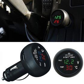 Βολτόμετρο Θερμόμετρο Αυτοκινήτου και Ταχυφορτιστής USB 3.1A (Αξεσουάρ αυτοκινήτου)